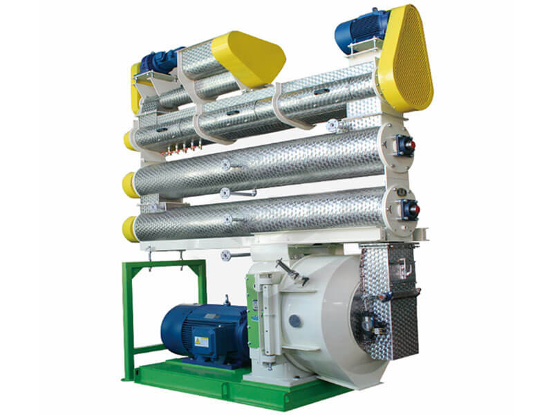 Three-layer double-shaft pellet mill